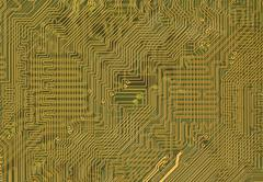 circuit board background in hi-tech style - stock photo