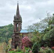 church ruin at sao miguel island - stock photo