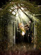 the little fairy. - stock illustration