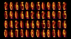 Nixie clock numerical counter Stock Footage