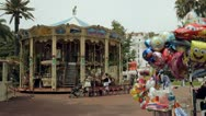 A merry-go-round Carousel in Cannes, France Stock Footage