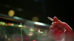 Smoking Cigarette 009 Stock Footage