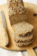 Wholemeal bread, sliced Stock Photos
