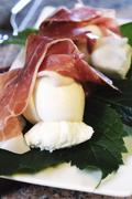 Parma ham and mozzarella as an appetiser Stock Photos