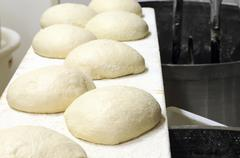 Bread dough in a bakery Stock Photos
