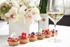 Cupcakes for a wedding - stock photo