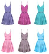 Stock Illustration of set of dresses