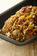 Sauce Fried Rice Stock Photos