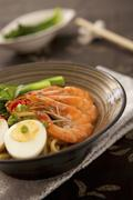 Southeast Asian seafood noodles - stock photo