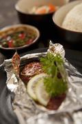 Roast fish - stock photo
