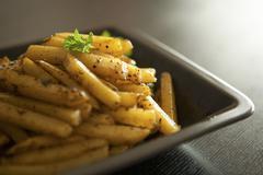 Homemade chips - stock photo
