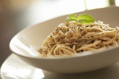 Sesame noodles - stock photo