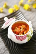 Crab soup - stock photo