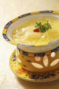 Health pumpkin soup Stock Photos