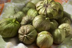 Many Fresh Tomatillos - stock photo