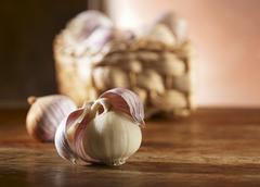 Chinese garlic Stock Photos