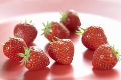 Several strawberries - stock photo