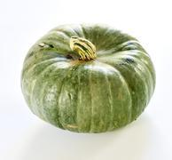 Stock Photo of A green pumpkin