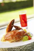 Spicy coconut Crab Stock Photos