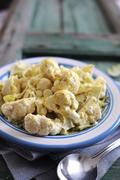 Cauliflower salad with a mustard dressing Stock Photos