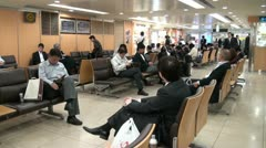 Waiting hall in Nagoya train station, Japan Stock Footage