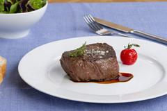 A fried fillet steak Stock Photos
