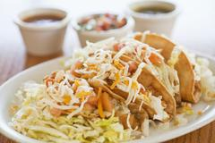 Fried Chicken Tacos Stock Photos