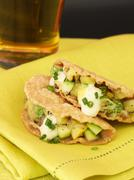 Summer Squash and Zucchini Taquitos - stock photo