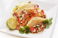 Shrimp Tacos Stock Photos