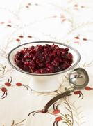 Cranberry Sauce with Ladle Stock Photos