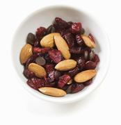 Almond, Craisin and Chocolate Chip Trail Mix Stock Photos