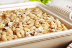 White Bean and Lamb Casserole Stock Photos