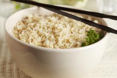 Stock Photo of Brown rice in a dish