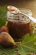 Fig and orange marmalade - stock photo
