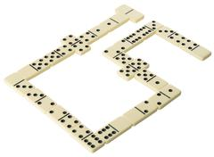 bones of dominoes - stock photo