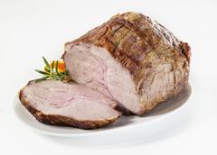 Roasted pork neck Stock Photos