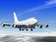 landing away from airport - stock illustration