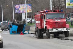 road failure - stock photo