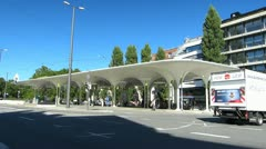 Germany Munich Munchner Freiheit bus station Stock Footage
