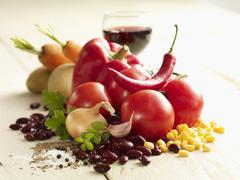 Ingredients for chilli con carne Stock Photos