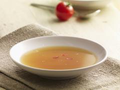 Tomato consommé - stock photo