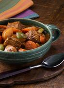 Bowl of Beef Steak Stew Stock Photos