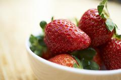 Stock Photo of Fresh strawberries in a bowl