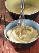 Making mashed potato (German voice-over) Stock Photos
