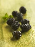 Stock Photo of Fresh blackberries