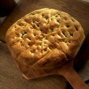 Loaf of Focaccia Bread Paddle Stock Photos