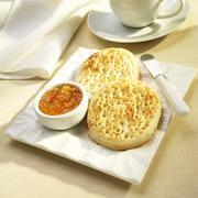 Toasted Crumpets with Orange Marmalade Stock Photos