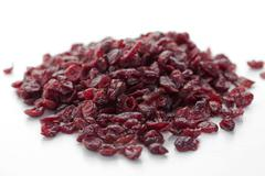 Stock Photo of A pile of dried cranberries
