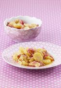 Potato salad with red onions Stock Photos