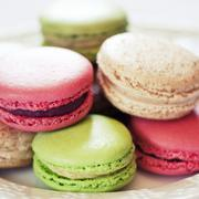 Multi-Colored Macaroons Stock Photos